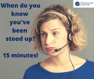 How long do you wait until you know you have been stood up on Zoom?